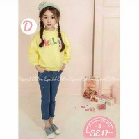 Setelan Anak Tee Jeans Baju Anak Import Tee Yellow Special Edition