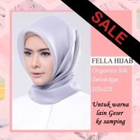 Hijab Organza Sutra Dove Silk Jilbab Organza silver premium