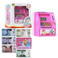 Mainan Edukasi Mesin ATM Mini My Little Pony Bank Bahasa Indonesia