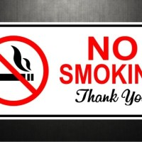 Cutting Sticker / Stiker Custom Sign Logo No Smoking