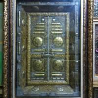 kaligrafi muslim | bingkai kaligrafi pintu ka'bah