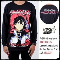 T-Shirt Distro Kaos Anime Lengan panjang KIRITO ORDINAL SCALE