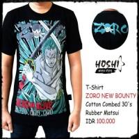 T-Shirt Distro Kaos Anime ZORO NEW BOUNTY