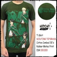 T-Shirt Distro Kaos Anime SCOUTING LEGION TOP BRASS