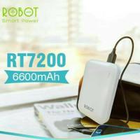 Powerbank Robot RT7200 6600mAh 2 USB Power Bank Vivan Original Robot