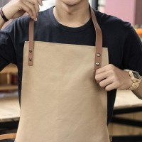 Promo Baru Apron Canvas And Synthetic Leather (Celemek), Barista/Chef