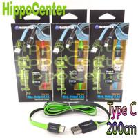 Hippo Kabel TELEPORT 2 TYPE C 200CM Fast Charging kabel data tipe C