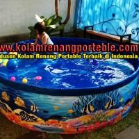 Kolam Renang Anak /Dewasa Portable Ukuran 2 Meter,TINGGI  60cm