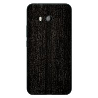 9Skin - Premium Skin Protector for HTC U11 - 3M Black Burned Wood