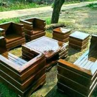Meja Kursi Ruang Tamu Minimalis Mewah Bahan Kayu Jati Furniture Jepara