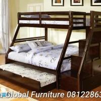 dipan tempat tidur anak tingkat (ranjang jati,lemari,kamar set )