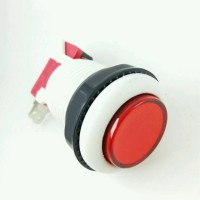 tombol dindong switch push on button dingdong 30mm merah