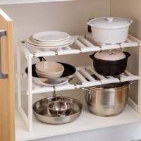 Rak Dapur Kitchen Portable Stainless STEEL+ PLASTIK Panci 2 Susun RF21