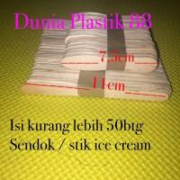 -/+50PC SENDOK / STIK stick gagang KAYU ice es cream crem crim krim