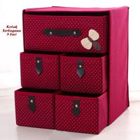 Kotak Serbaguna Wine Red 5 Laci