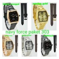 jam tangan original couple Lorenzo paket kulit