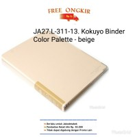 JA27. L-311-13 KOKUYO BINDER COLOR PALETTE- B5 - 26 rings- beige
