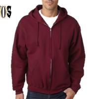 Jual Jaket Sweater Pria Wanita Hoodie Zipper Marun Burgundy murah