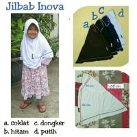 Jilbab instan serut anak sekolah inova bahan kaos