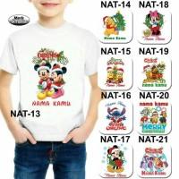 Kaos Natal Karakter / Kaos Christmas / Kaos Anak Natal