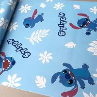 wallpaper sticker D749 wall paper stiker biru kartun lilo and stitch