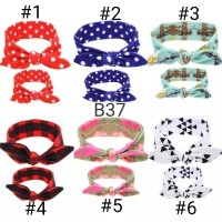 bando couple mom dan baby headband bandana