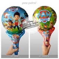 balon pentung paw patrol / balon souvenir / balon stick / balon foil