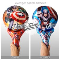 balon pentung captain america / balon foil / balon stick avenger