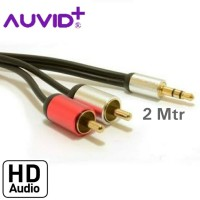 Kabel Audio 2 Meter to Rca Aux 3.5mm Male to 2 RCA Male