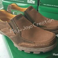 Sepatu GATS Kulit Casual Pria Keren Original Murah bagus To 2206 brown