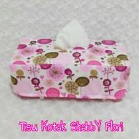 Tempat Tissue / Tisu / BoX Tisu Kotak ShabbY Flori