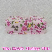 Tempat Tissue / Tisu / BoX Tisu Kotak ShabbY Pink