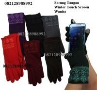 Sarung Tangan Musim Dingin Wanita Touch Screen/Gloves Winter Katun 801