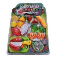 Mainan Edukasi Anak - Fruit House Set Buah Sayur Potong Cuttin