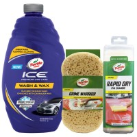Turtle Wax [BUNDLE] ICE WASH AND WAX + SPONGE + CHAMOIS XL