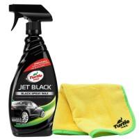 Turtle Wax [BUNDLE] JET BLACK SPRAY WAX + 1 PCS MICROFIBER CLOTH