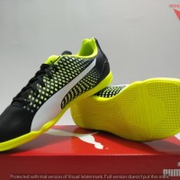 SEPATU FUTSAL INDOOR - PUMA ADRENO III IT ORIGINAL #10404707 BLACK
