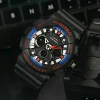 Jam Tangan Pria Digitec DG2032 Dualtime Black Kombinasi