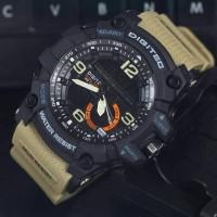 Jam Tangan Pria Digitec DG2102 Dualtime Brown Black