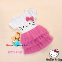 G2036 Dress anak Tutu Hello Kitty - Pink