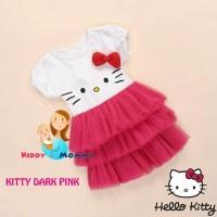 G2035 Dress Tutu anak Hello Kitty - Dark Pink