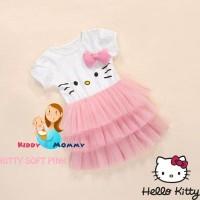G2037 Dress anak Tutu Hello Kitty - Soft Pink