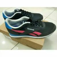 Sepatu /Classic Shoes  Original Reebok Royal CL JOG 2 Sea Black /Pink
