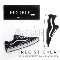 Sepatu Vans Old Skool patch bordir emblem badge