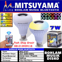 Bohlam Lampu LED Musik Bluetooth Speaker Mitsuyama MS-0707 Remote