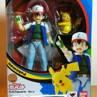ORI SHF Satoshi Ash + Pikachu Pokemon Nintendo 3DS XL Switch Bandai