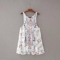 MINI DRESS TUNIK WST 17358 Floral Hollow Back Dress