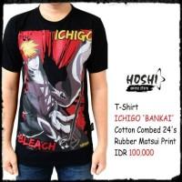 T-Shirt Distro Kaos Anime ICHIGO 'BANKAI'