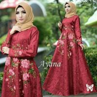 Ayana Maroon Busana Muslim Pesta Trendy Teerbaru Modern Gamis terbaru