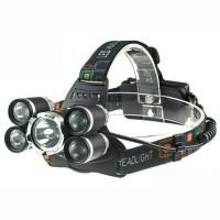 Headlamp Cree XM-L 1T6+4Xpe / SENTER KEPALA SUPER TERANG 5 mata led